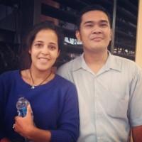 Erwin et Jenni à l'aéroport de Jakarta